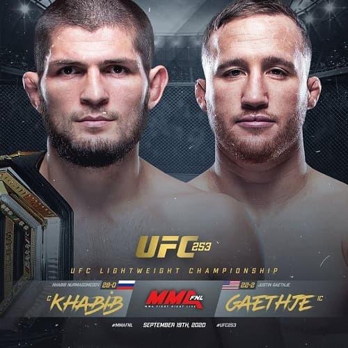 UFC 254: Хабиб Нурмагомедов - Джастин Гейджи