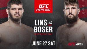 Full fight video: Philipe Lins vs. Tanner Boser / UFC on ESPN 12
