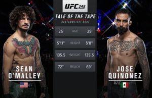Full fight video: Sean O'Malley vs. Jose Quinonez / UFC 248
