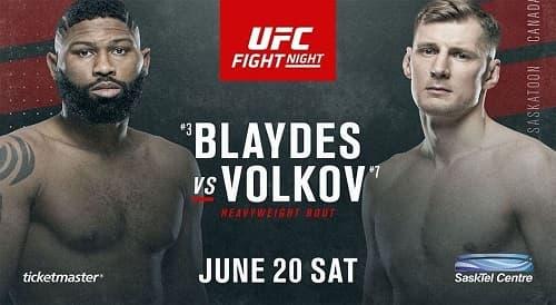 Видео боя Александр Волков - Кёртис Блейдс / UFC on ESPN 11