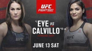 Видео боя Джессика Ай - Синтия Кальвильо / UFC On ESPN 10