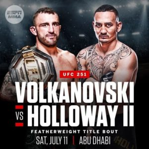 UFC 251: Александр Волкановски - Макс Холлоуэй 2