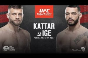 Full fight video: Dan Ige vs. Calvin Kattar / UFC on ESPN 13