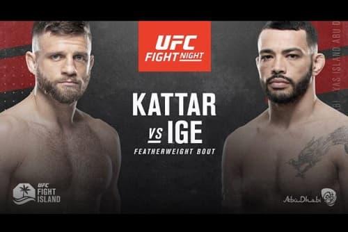 Видео боя Дэн Идж - Келвин Каттар / UFC on ESPN 13