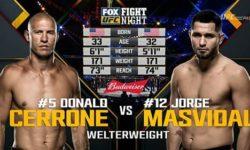 Vidéo de combat complet: Jorge Masvidal — Donald Cerrone / UFC on Fox 23