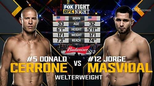 Видео боя Хорхе Масвидаль - Дональд Серроне / UFC on Fox 23