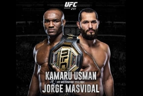 Видео боя Камару Усман - Хорхе Масвидаль / UFC 251