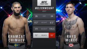 Видео боя Хамзат Чимаев - Рис Макки / UFC on ESPN 14