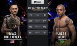 Видео боя Макс Холлоуэй — Жозе Альдо 2 / UFC 218