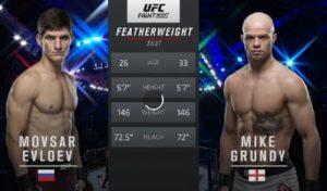 Видео боя Мовсар Евлоев - Майк Гранди / UFC on ESPN 14