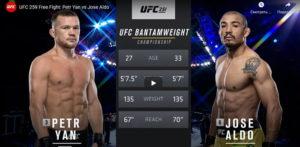 Видео боя Пётр Ян - Жозе Альдо / UFC 251