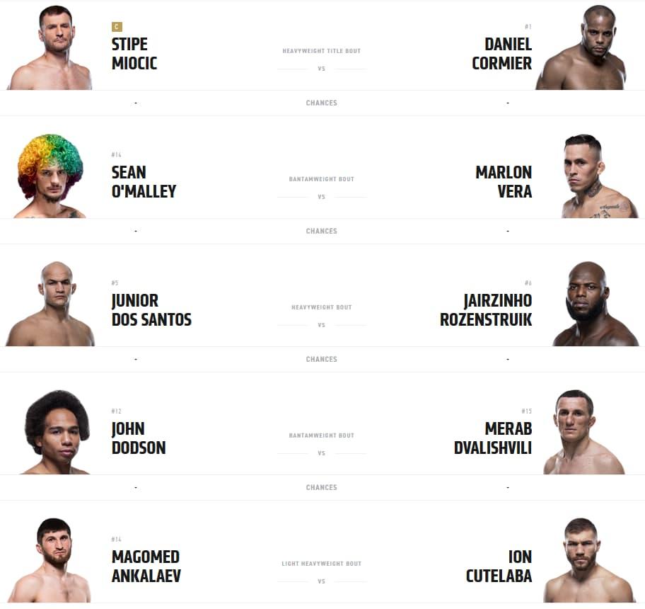 UFC 252 Главный кард