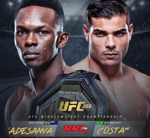 UFC 253: Исраэль Адесанья - Пауло Коста