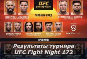 Результаты турнира UFC Fight Night 172