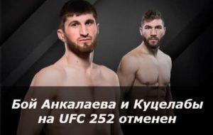Бой Анкалаева и Куцелабы на UFC 252 отменен