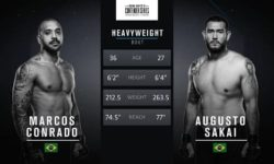 Full fight video: Augusto Sakai vs. Marcos Conrado / Contender Series