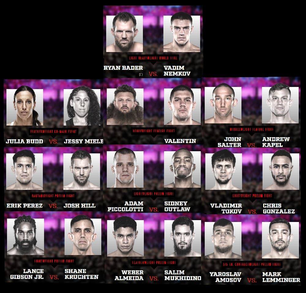 Bellator 244: Кард турнира