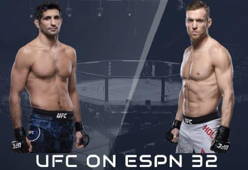 Видео боя Бенил Дариуш - Скотт Хольцман / UFC Fight Night 174