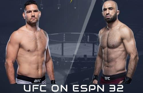 Видео боя Крис Вайдман - Омари Ахмедов / UFC Fight Night 174