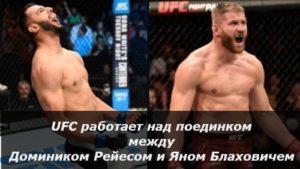 UFC работает над поединком между Рейесом и Блаховичем