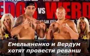 Емельяненко и Вердум хотят провести реванш