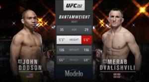 Full fight video: John Dodson vs. Merab Dvalishvili / UFC 252