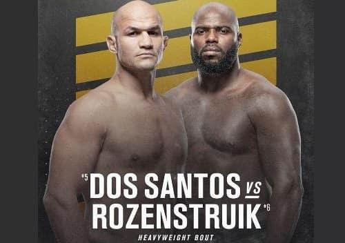 Видео боя Джуниор Дос Сантос - Жаирзиньо Розенструйк / UFC 252