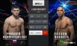Видео боя Хабиб Нурмагомедов — Эдсон Барбоза / UFC 219