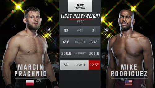 Видео боя Марчин Прахнио - Майк Родригес / UFC on ESPN 15