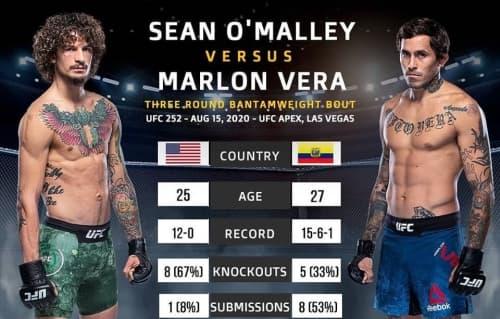 Видео боя Шон О'Мэлли - Марлон Вера / UFC 252