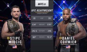 Видео боя Стипе Миочич - Даниэль Кормье 2 / UFC 241