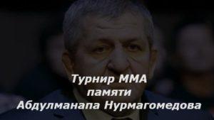 Турнир ММА памяти Абдулманапа Нурмагомедова