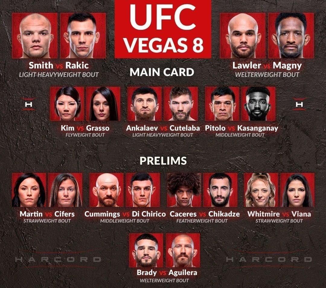 UFC Fight Night 175: Кард турнира