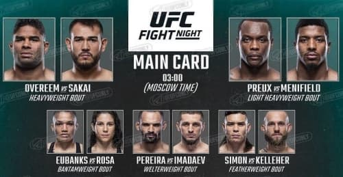 Ufc Fight Night 176 Kard Turnira Novosti Boksa I Mma