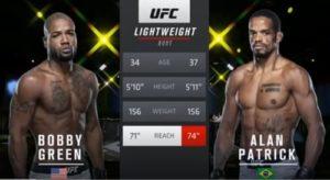 Видео боя Бобби Грин - Алан Патрик / UFC Fight Night 177