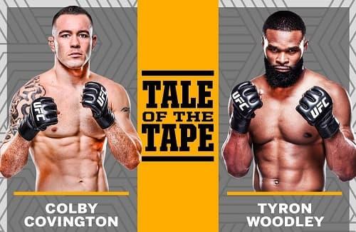 Видео боя Колби Ковингтон - Тайрон Вудли / UFC Fight Night 178