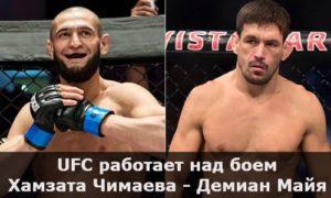 UFC работает над боем Хамзата Чимаева против Демиана Майя