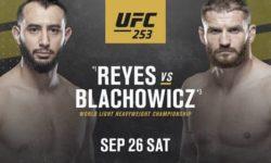 Видео боя Доминик Рейес — Ян Блахович / UFC 253