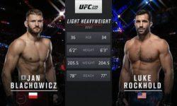 Видео боя Ян Блахович — Люк Рокхолд / UFC 239