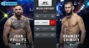 Видео боя Хамзат Чимаев - Джон Филлипс / UFC on ESPN 13