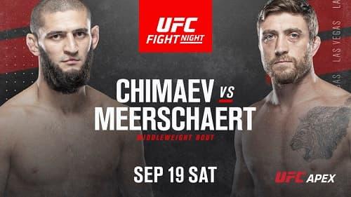 Видео боя Хамзат Чимаев - Джеральд Мершарт / UFC Fight Night 178
