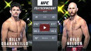 Видео боя Билли Куарантилло - Кайл Нельсон / UFC Fight Night 177