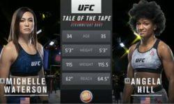 Видео боя Мишель Уотерсон — Анджела Хилл / UFC Fight Night 177