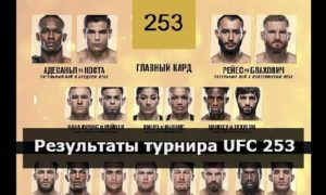 Результаты турнира UFC 253