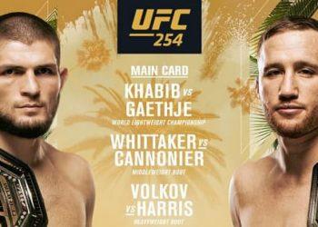 UFC 254 — Кард турнира