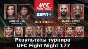Результаты турнира UFC Fight Night 177