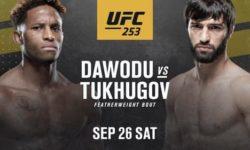 Видео боя Зубайра Тухугов — Хаким Даводу / UFC 253