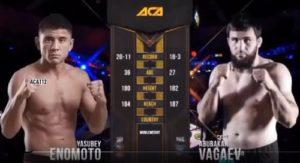 Видео боя Вагаев - Эномото / ACA 112