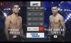 Видео боя Брайан Ортега — Корейский зомби / UFC Fight Night 180