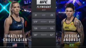 Видео боя Кэтлин Чукагян - Джессика Андраде / UFC Fight Night 180